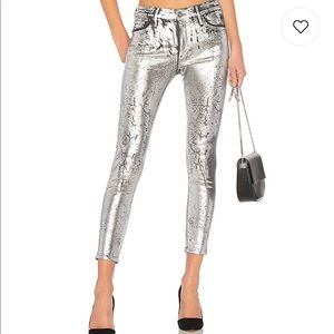 Iced Silver Skinny Jeans